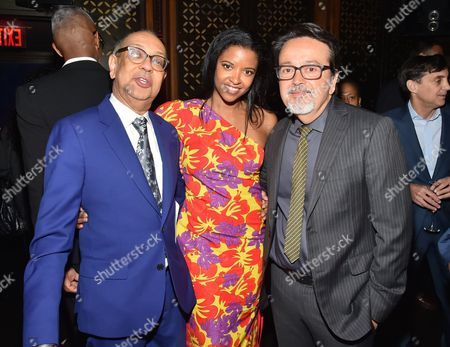George C Wolfe, Renee Elise Goldsberry and Len Amato