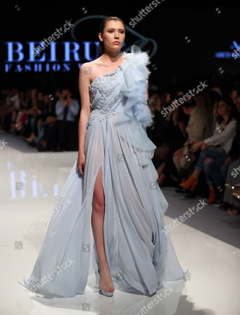 A model presents a creation from the Spring/Summer 2017 Haute Couture collection by Lebanese designer Abed Mahfouz during the Beirut Fashion Week, Beirut, Lebanon, 18 April 2017. The event runs from 18 to 22 April.