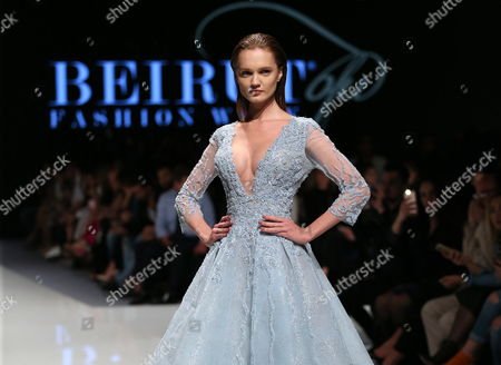 A model presents a creation from the Spring/Summer 2017 Haute Couture collection by Lebanese designer Abed Mahfouz during the Beirut Fashion Week, in Beirut, Lebanon, 18 April 2017. The event runs from 18 to 22 April.