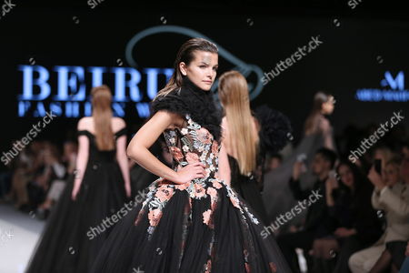 Models present creations from the Spring/Summer 2017 Haute Couture collection by Lebanese designer Abed Mahfouz during the Beirut Fashion Week, in Beirut, Lebanon, 18 April 2017. The event runs from 18 to 22 April.