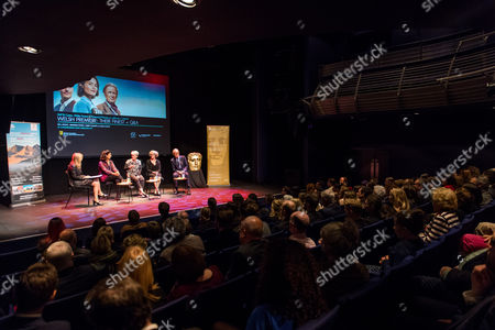 Editorial photo of 'Their Finest' film premiere, Panel Discussion, Cardiff, Wales, UK - 18 Apr 2017