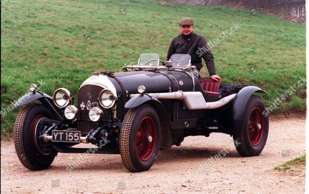 Warning: Picture Scanned For Overnight News Neil Davis Of 'neil Davis Racing' With One Of The Bentleys He Restores In His Garage In Watford.
