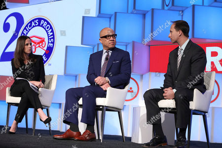 Alicia Menendez, Darren Walker, Michael Petrilli Television commentator, host Alicia Menendez moderates panel conversation with Ford Foundation's Darren Walker and Fordham Institute's Michael Petrilli on whether the American dream is within reach for young people at the Recommit To Kids Summit hosted by America's Promise Alliance, in New York. To learn more, visit www.Recommit2Kids.org