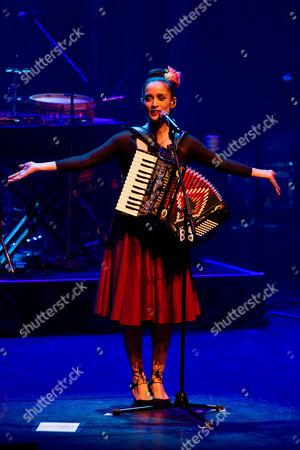 Editorial photo of Julieta Venegas in concert at the Barbican Centre, London, UK - 18 Apr 2017