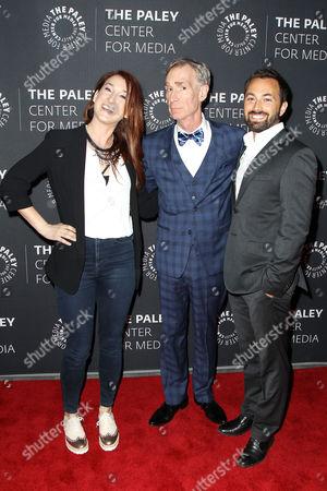 Stock Picture of Joanna Hausmann, Bill Nye, Derek Muller