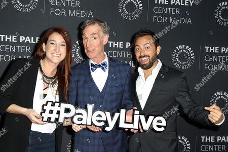 Stock Image of Joanna Hausmann, Bill Nye, Derek Muller