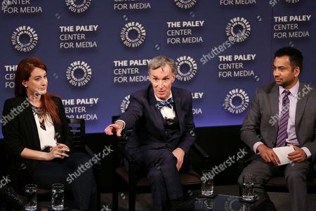 Stock Picture of Joanna Hausmann, Bill Nye, Kal Penn
