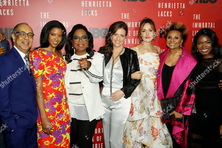 George C Wolfe, Renee Elise Goldsberry, Oprah Winfrey, Rebecca Skloot (Author,Co-Exec. Producer), Rose Byrne, Leslie Uggams, Kyanna Simpson