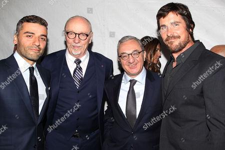 Oscar Isaac, Terry George, Ambassador Zohrab Mnasalkanyan and Christian Bale
