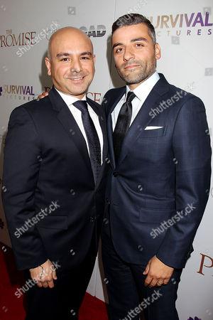 Eric Esrailian with Oscar Isaac