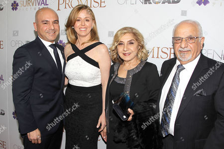 Eric Esrailian and Melina Esrailian with Eric's parents