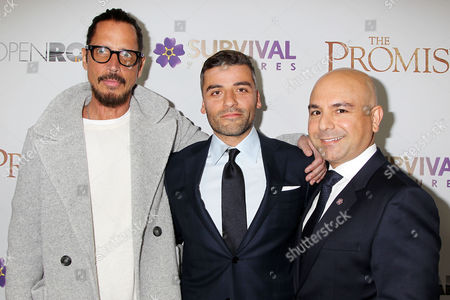 Chris Cornell, Oscar Isaac and Eric Esrailian