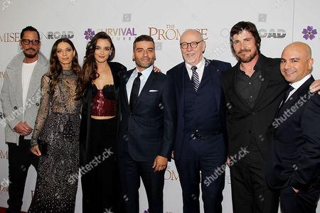 Chris Cornell, Angela Sarafyan, Charlotte Le Bon, Oscar Isaac, Terry George, Christian Bale and Eric Esrailian