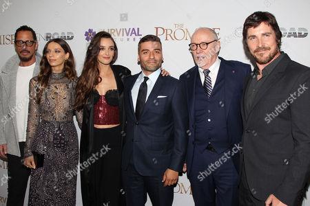 Chris Cornell, Angela Sarafyan, Charlotte Le Bon, Oscar Isaac, Terry George and Christian Bale