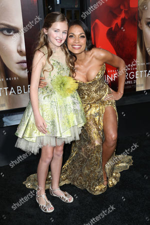 Isabella Kai Rice and Rosario Dawson