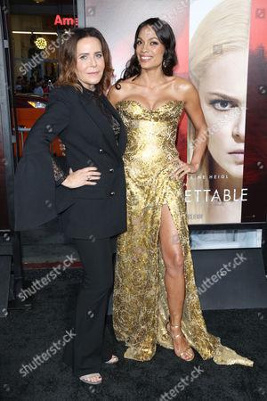 Denise Di Novi and Rosario Dawson