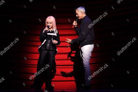 Cyndi Lauper and Jerry Mitchell