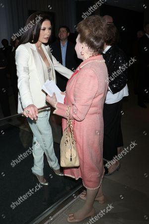 Catherine Zeta-Jones and Cindy Adams