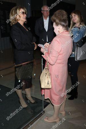 Jessica Lange and Cindy Adams