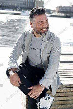 Editorial photo of Hasan Cetinkaya photo shoot, Stockholm, Sweden - 05 Apr 2017