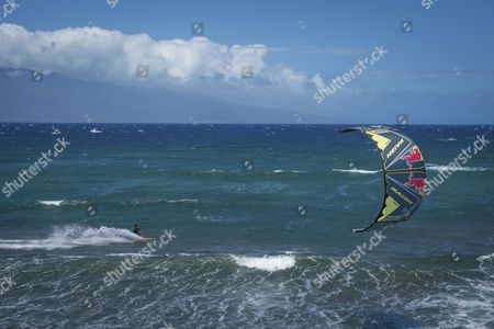 Editorial image of Kite surfing demo at Downwind Voyage for Change in Hawaii, USA - 29 Mar 2017