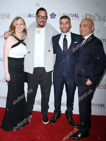 Melina Esrailian, Chris Cornell, Oscar Isaac and Eric Esrailian