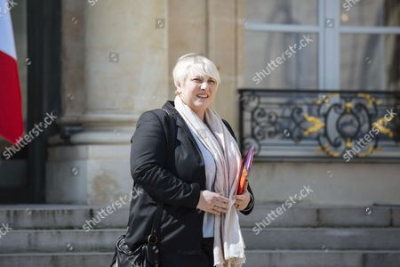 French Health Junior minister Pascale Boistard leaves after a cabinet meeting at the Elysee Palace