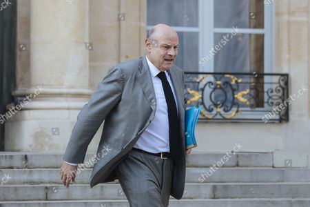 Junior minister for foreign affairs Jean-Marie Le Guen leaves after a cabinet meeting at the Elysee Palace