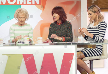 Stock Picture of Rosemary Conley, Janet Street-Porter and Stacey Solomon