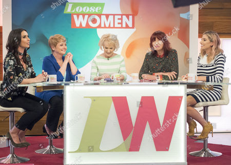 Stock Photo of Christine Lampard, Anne Diamond, Rosemary Conley, Janet Street-Porter and Stacey Solomon