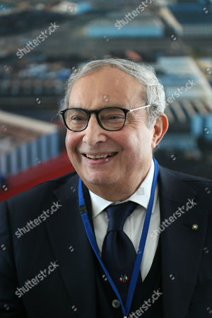 Italy''s Giuseppe Bono, CEO of Fincantieri, smiles at the STX shipyard in Saint-Nazaire, western France, . Fincantieri announced on April 6, 2017 it signed an agreement with France, a key element for the finalization of the final agreements among future shareholders