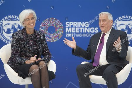 Christine Lagarde and Walter Isaacson