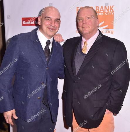 Michael Symon, left, and Mario Batali