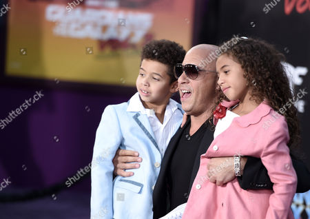 Vincent Sinclair, Vin Diesel and Hania Riley Sinclair