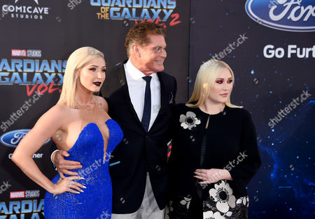 Hayley Hasselhoff, David Hasselhoff and Taylor Ann Hasselhoff