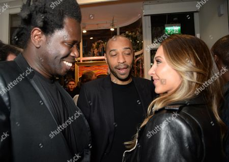 Stock Image of Bradley Theodore, Thierry Henry and Andrea Rajacic