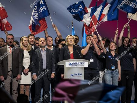 Marine Le Pen, Marion Marechal Le Pen and David Rachline