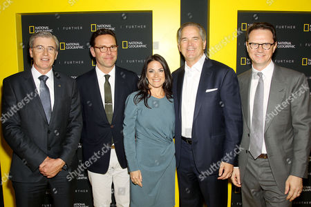 Declan Moore, James Murdoch, Courteney Monroe, Randy Freer, Peter Rice