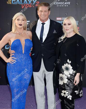David Hasselhoff and daughters Taylor Ann Hasselhoff, Hayley Hasselhoff