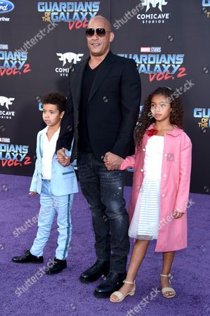 Stock Image of Vin Diesel, Vincent Riley and Hania Riley