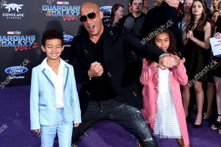 Vin Diesel, Vincent Riley and Hania Riley