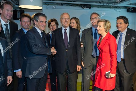 Editorial picture of Francois Fillon presidential campaigning, Paris, France - 19 Apr 2017