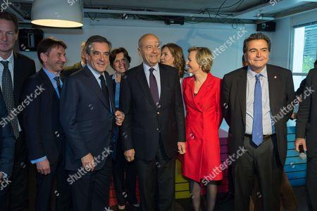 Stock Image of Francois Fillon, Alain Juppe, Nathalie Kosciusko-Morizet, Virginie Calmels, Pierre Lellouche