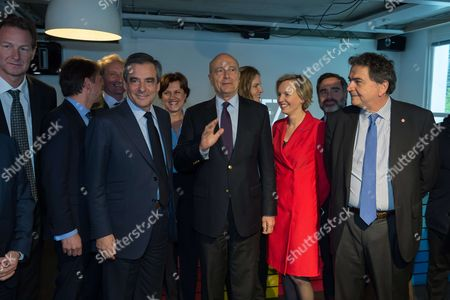 Editorial image of Francois Fillon presidential campaigning, Paris, France - 19 Apr 2017
