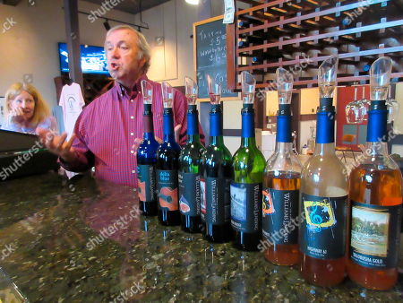 This photo shows Lonnie Bailey and his wife Debbie, owners of the Winery at Williams Landing, in their tasting room in Greenwood, Miss. They use Mississippi-grown grapes in their wines