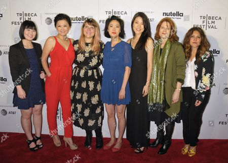 (L-R) Shirley Kwon, Esther Moon, Joey Ally, Sarah Chang, Yi Liu and Caryn West