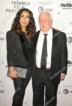 Stock Picture of Salma Hayek and Jim Sheridan