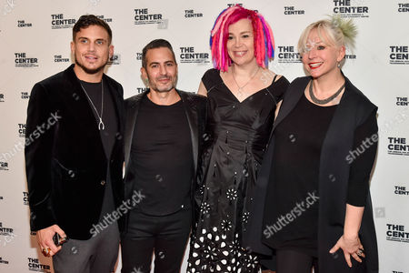 Charly Defrancesco (L), Marc Jacobs (middle left), Lana Wachowski (middle right), Karin Winslow (R)