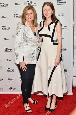 Stock Picture of Arianna Huffington (L); Isabella Huffington (R)