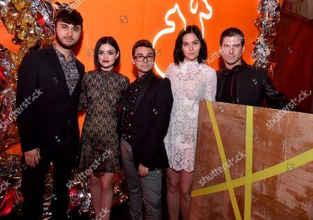 Brad Walsh, Lucy Hale, Christian Siriano, Leigh Lezark and Geordon Nicol